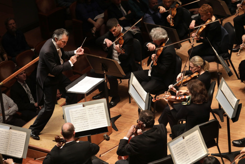 Guest conductor Jun Märkl leads the Dallas Symphony Orchestra at the Meyerson Symphony Center in Dallas, TX, on Nov. 28, 2017. (Jason Janik/Special Contributor)
